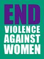 The End Violence Against Women logo.